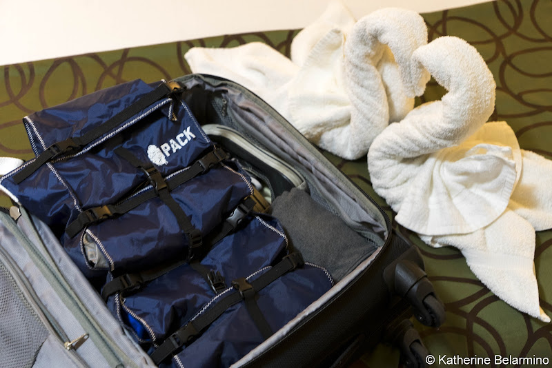 PACK Gear in Suitcase