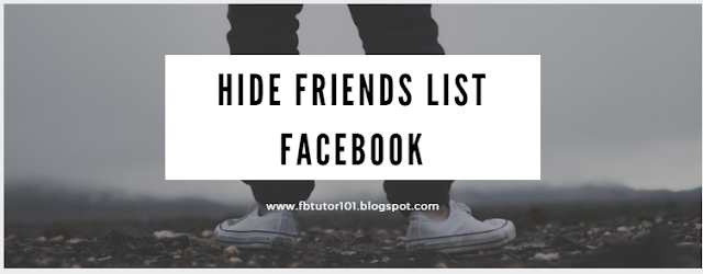 Hide Friends List Facebook