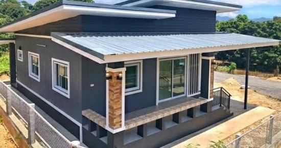 LINGKAR WARNA: Desain rumah minimalis atap miring dengan ...
