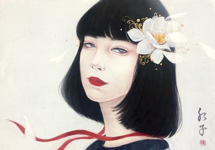Японский художник. Choji Beniko