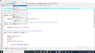Write a C program to find the root of equation using Newton Raphson Method. Equation: 2x^3-6x^2+6x-1. pic 3