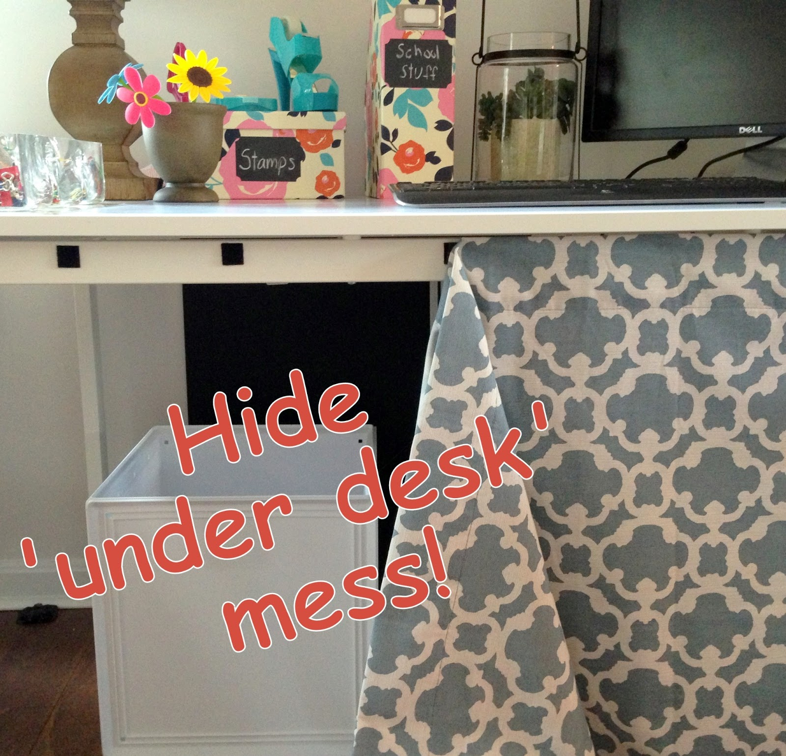 Loveyourroom Diy Home Office Desk Skirt Hides Clutter