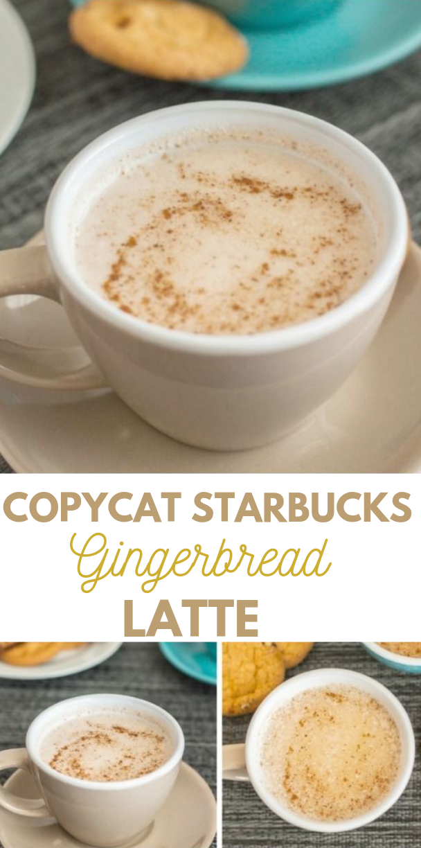 COPYCAT STARBUCKS GINGERBREAD LATTE #coffee #starbucks