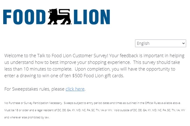 food lion sweepstakes 2020