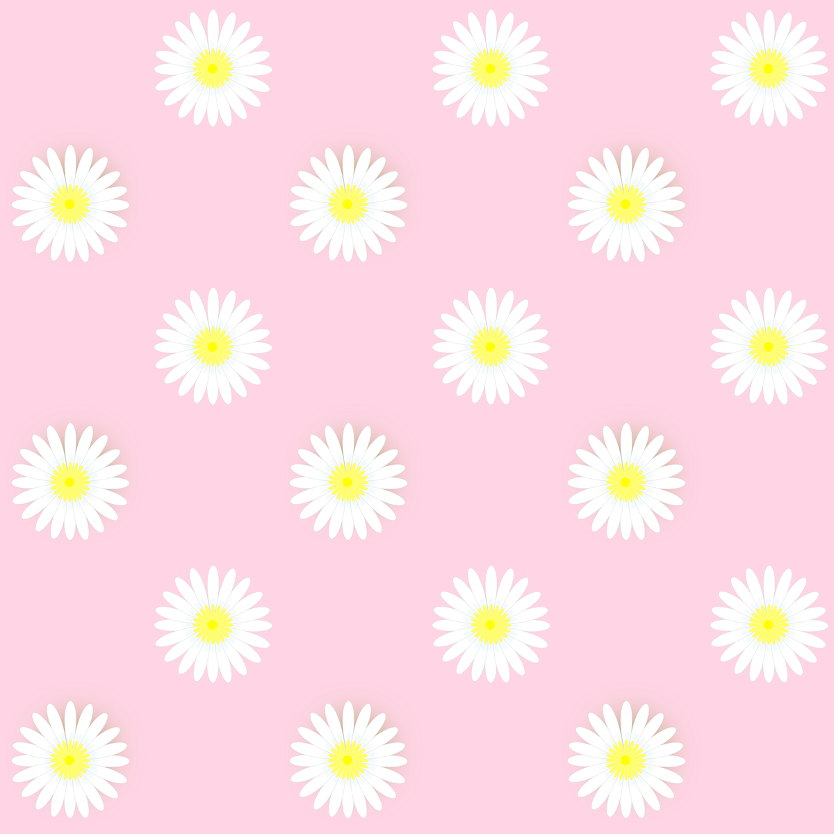 Free Digital Daisy Flower Scrapbooking Papers