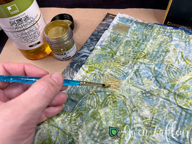 Textural Art Journaling with Stencils - Tutorial Step 4 - Gwen Lafleur