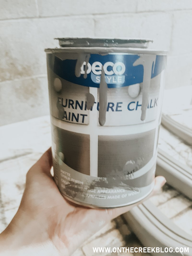 Deco Style Furniture Chalk Paint from Aldi | On The Creek Blog