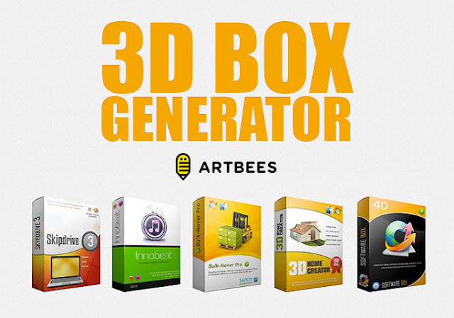 3D Box generator for Photoshop + 7 designs-بلال ارت