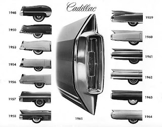classic cadillac tail fins by year 02