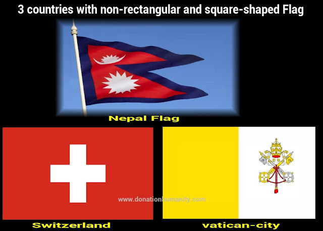 countries with non-rectangular and square-shaped Flag
