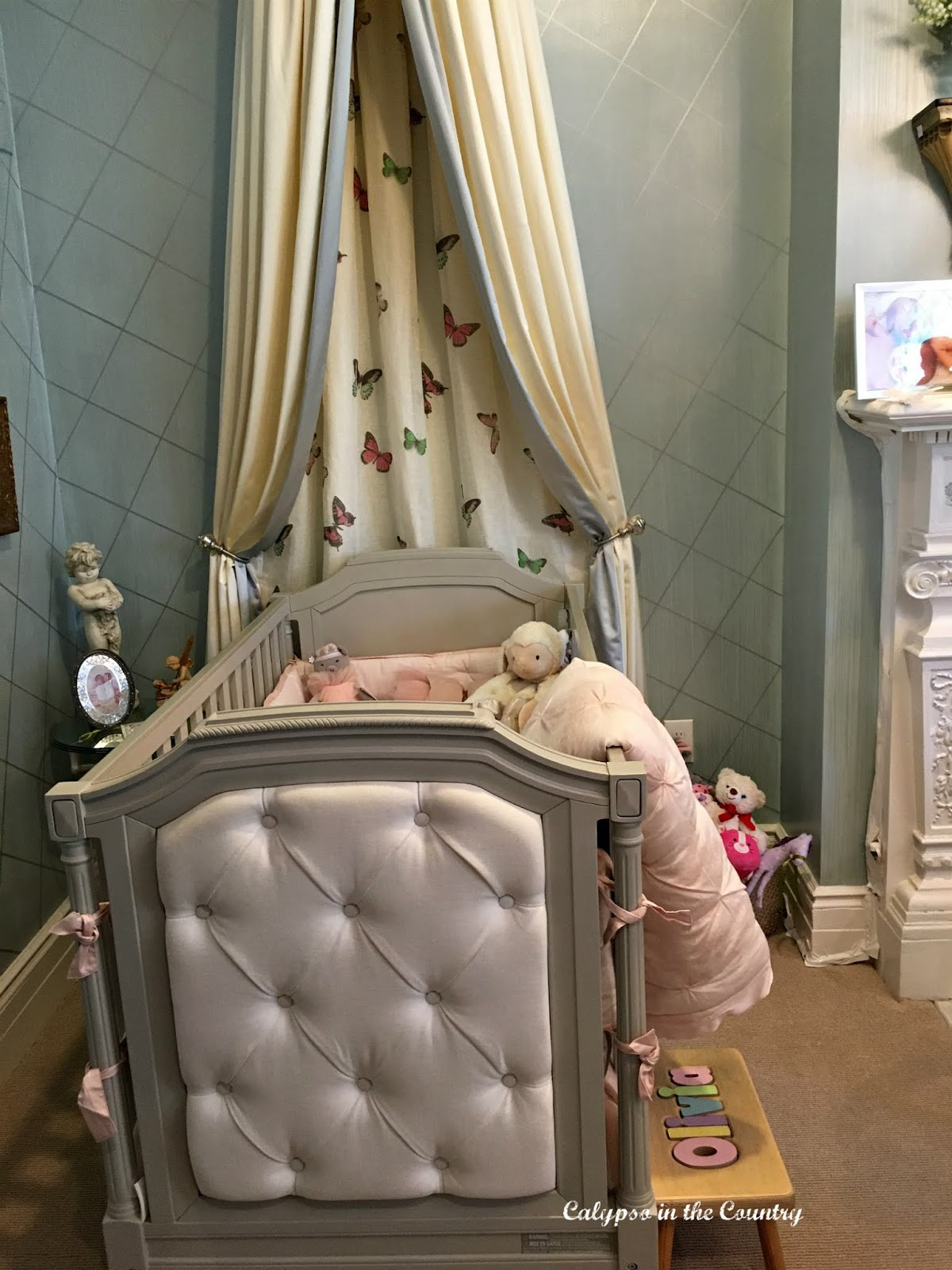 Crib in a designer showhouse