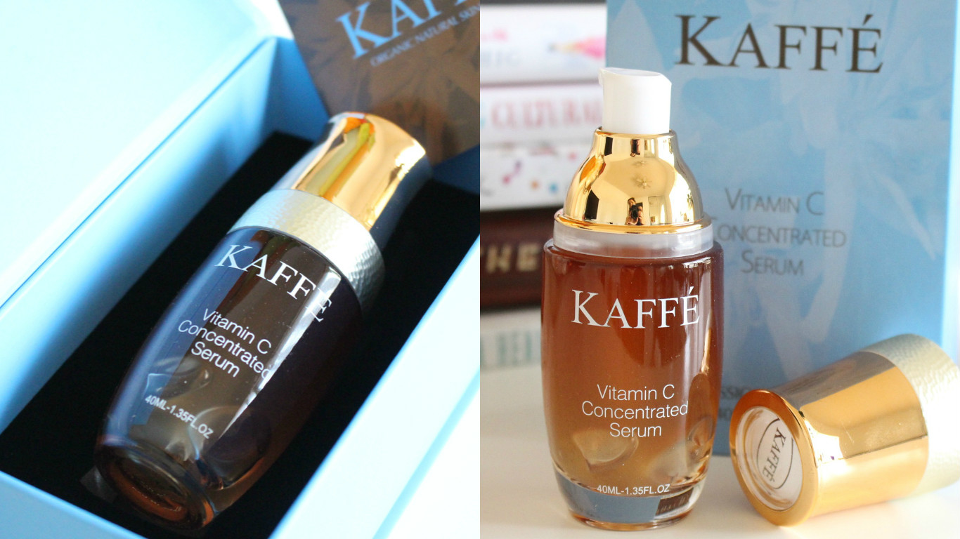 kaffe vitamin c concentrated serum review, benefits coffee on skin, benefits coffee on health