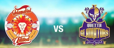 Quetta Gladiators vs Islamabad United