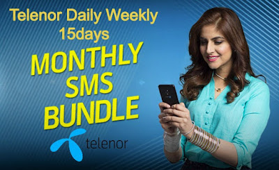 Telenor SMS Packages - telenor daily 15days weekly monthly SMS Packages
