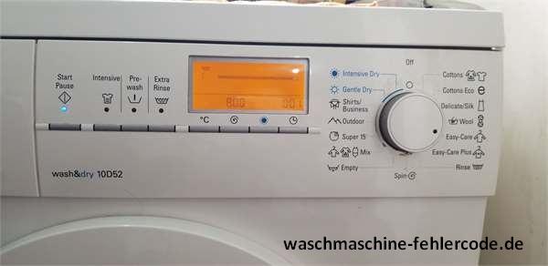 Siemens Waschmaschine Fehlercode Liste