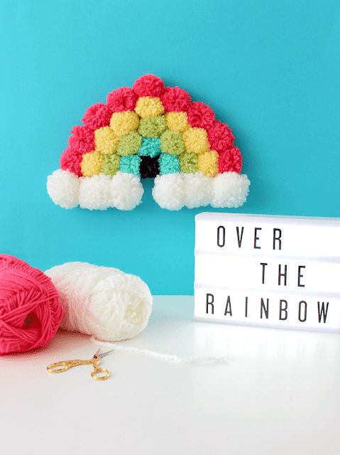 pompom rainbow art