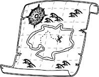 מפה עתיקה לצביעה