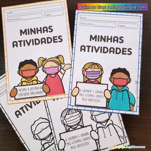 CAPAS PARA ORGANIZAÇÃO DOS CADERNOS DE ATIVIDADES REMOTAS