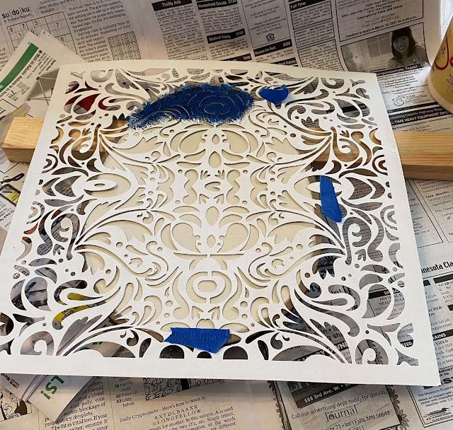 Photo of a pattern stencil