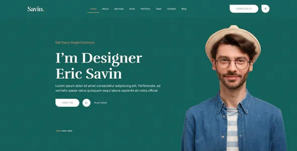 Best One Page Personal Portfolio HTML5 Template