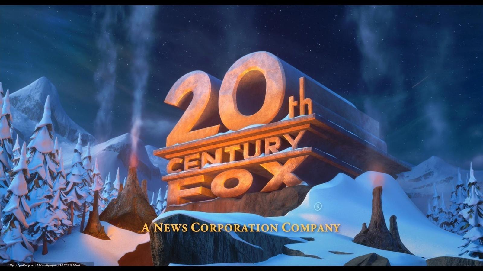 Download wallpapers 20th century fox, Film, logo, snow free desktop