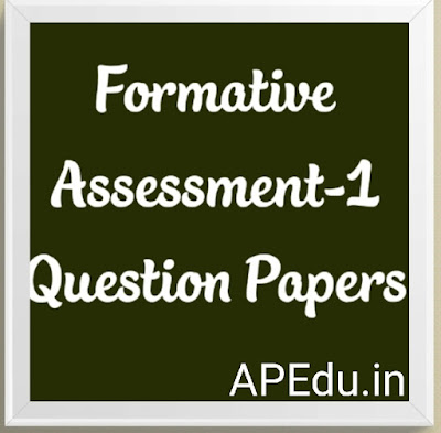 Formative Assessment-1 Question Papers