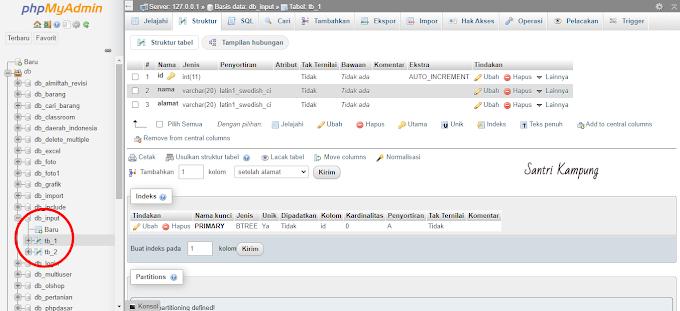 CARA INPUT DATA DI TABEL INCLUDE DI BANYAK TABEL DENGAN PHP MYSQLI