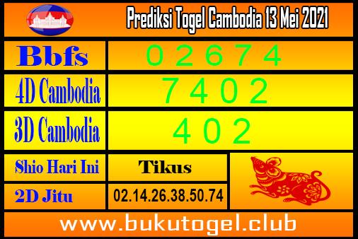 Kamboja Toggle Forecast 13 Mei 2021