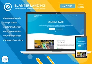 Blanter Landing, melhores modelos de página de destino para empresas