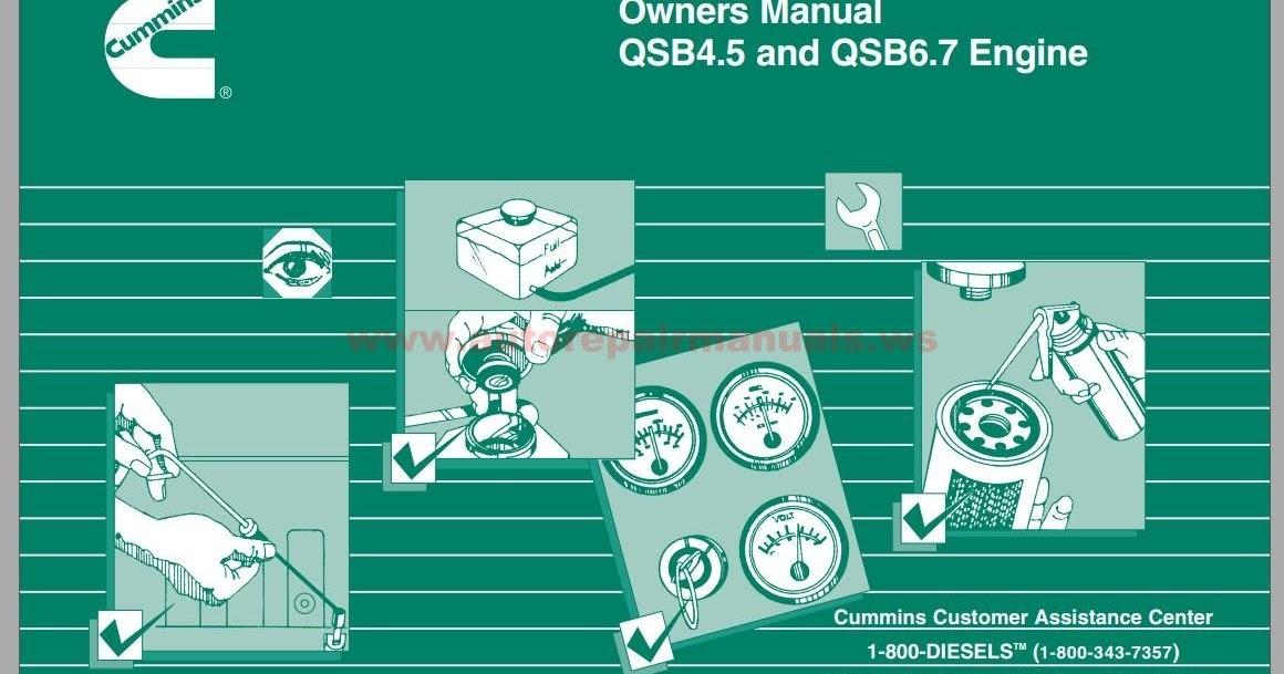 Cummins QSB45  QSB67 Engine Operation  Maintenance Manual