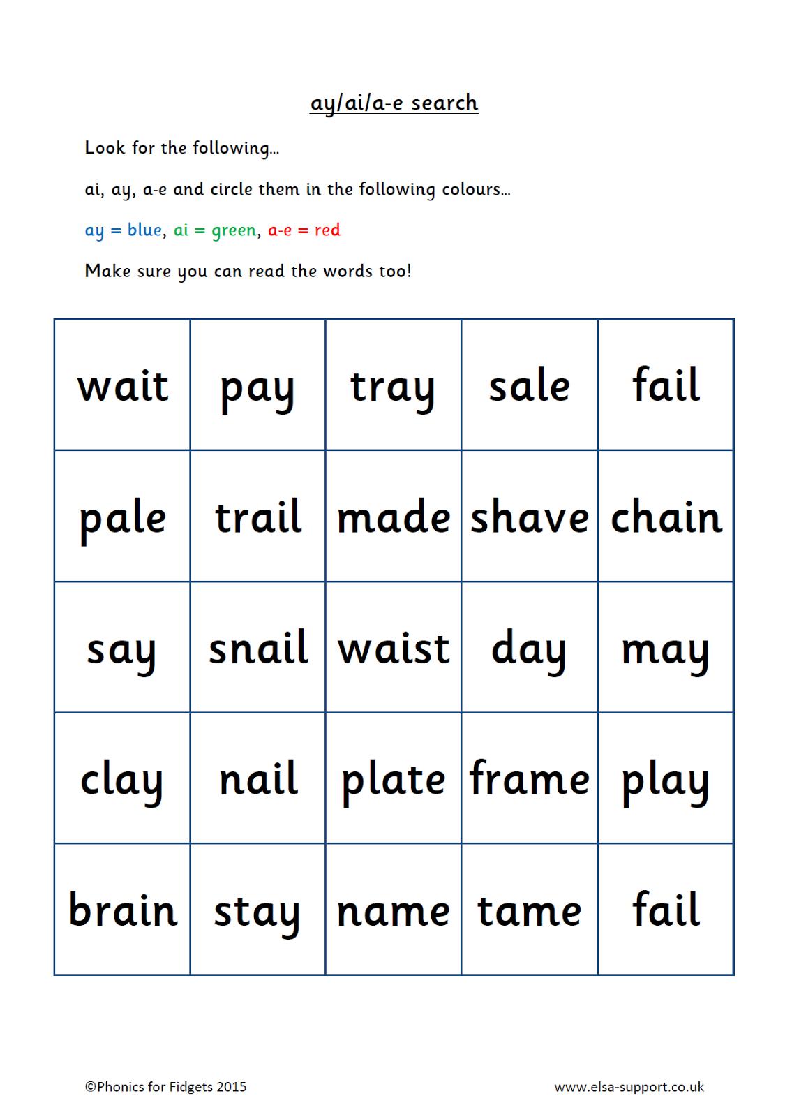 Phonics For Fidgets With Felix Recognising Vowel Digraphs