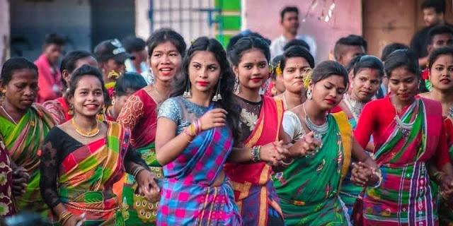 Santhali dance picture