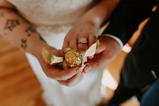 golden snitch chocolate wedding favors