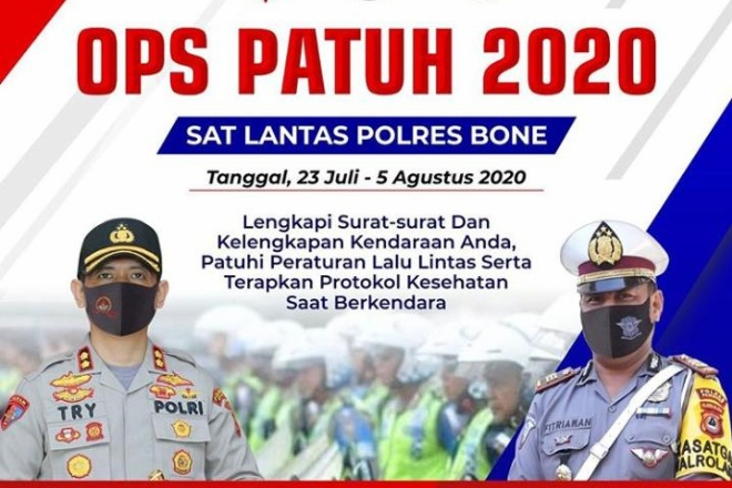 Siap-siap! Polres Bone Bakal Gelar Sweeping Ops Patuh 2020, Catat Tanggalnya