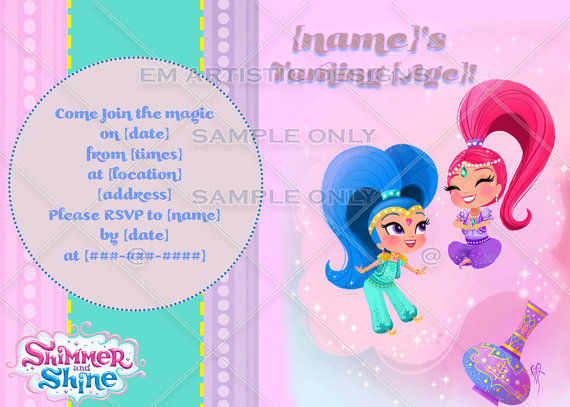 Featured Here Is A Variety Of Shimmer Shine Birthday Party Ideas And Supplies For Decorations Invitations Cake Favors More