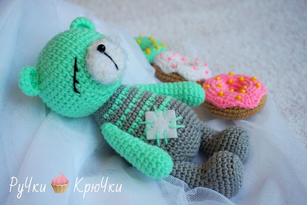 Amigurumi Sleeping Bear-Free Pattern - Amigurumi Free Patterns