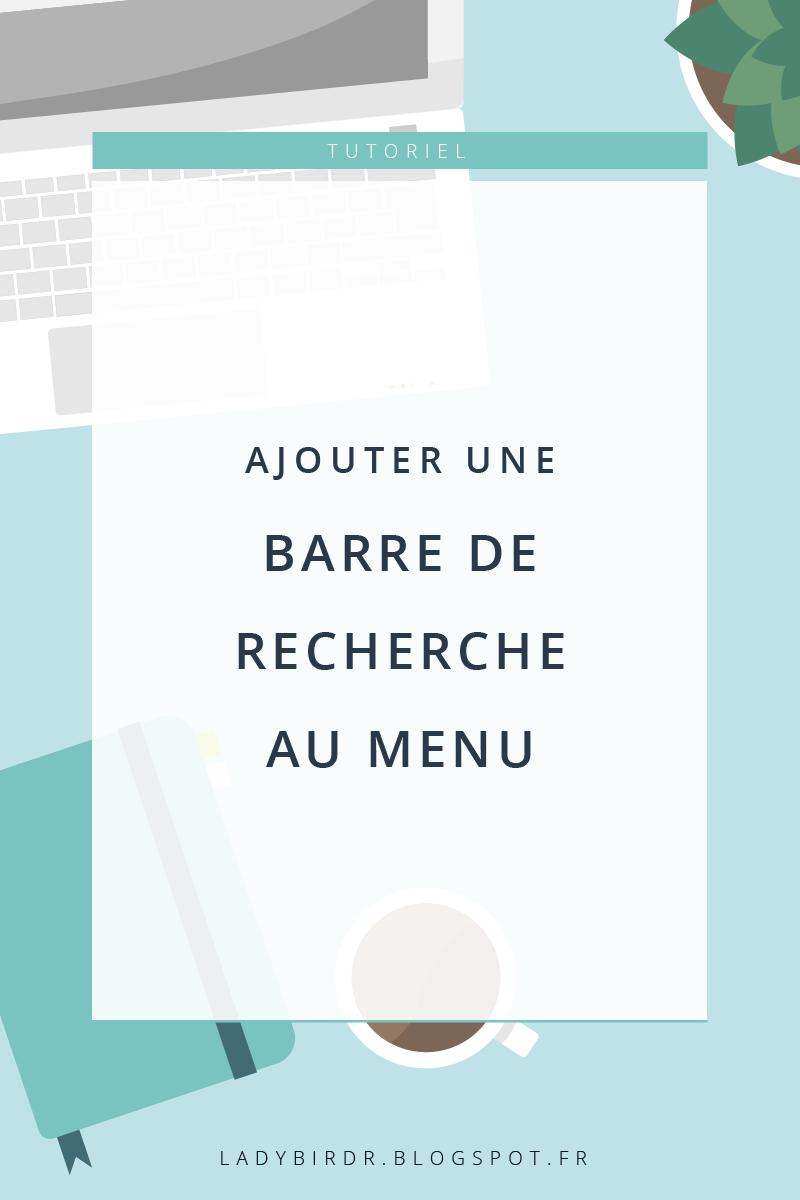 Ajouter une barre de recherche au menu