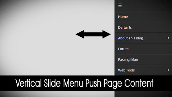 Vertical Slide Menu