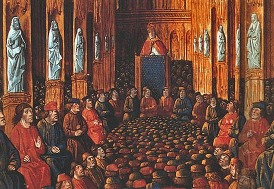 Paus Urbanus II dalam Konsili Clermont