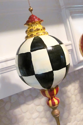 "hand painted large 10"" christmas ornament"