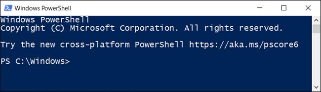 نافذة PowerShell.
