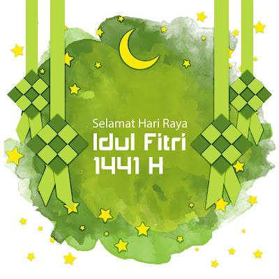 Gambar  Ucapan Selamat Hari Raya Idul Fitri 1441 Hntuk Medsos