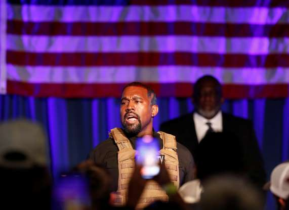 A tearful Kanye West launches presidential campaign with rambling rally