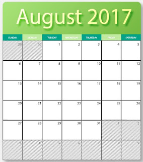 printables two 2017 August blank calendars f- editable in photoshop and illustrator ( eps and ai ) formats images with HQ. for free download.