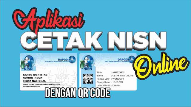 Aplikasi Cetak Kartu NISN Online Dengan QR Code