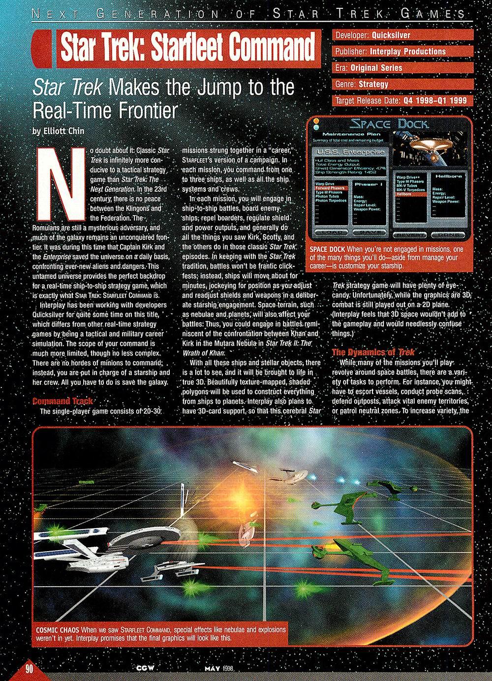 The Voice Of ODD!: Star Trek: Starfleet Command