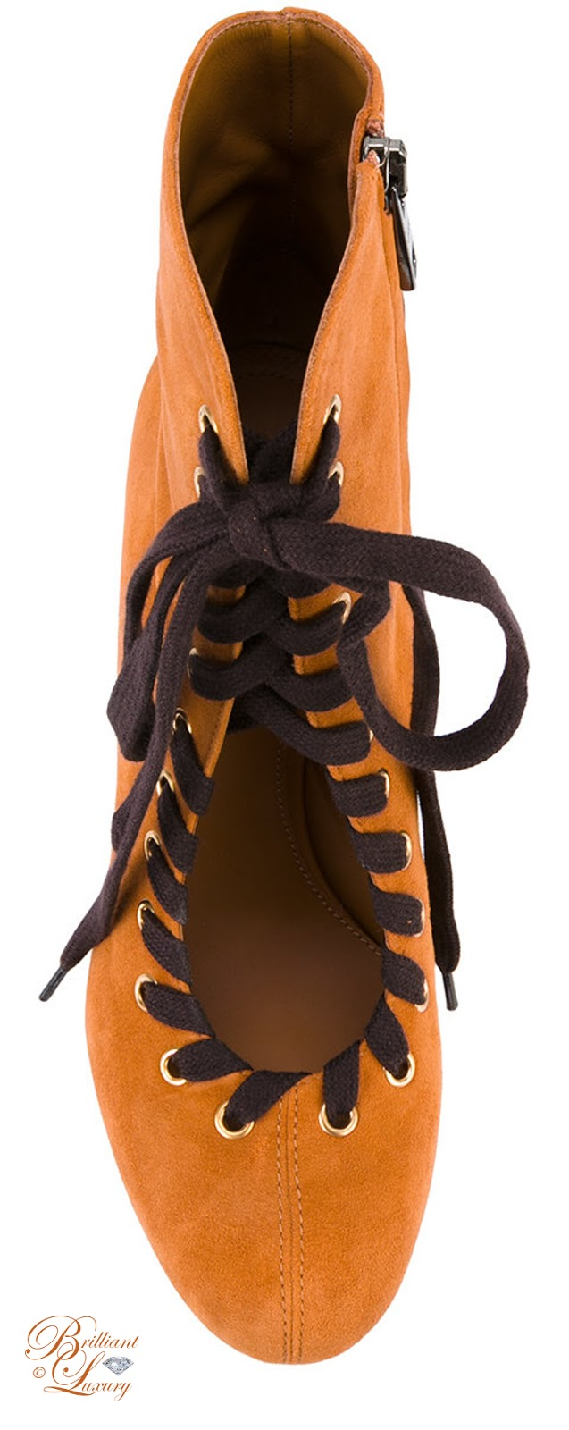 Brilliant Luxury ♦ Chloé Miles Lace Up Ankle Boots