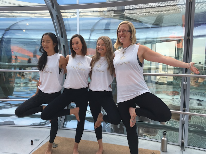 Yoga in the sky on the i360 with MyEscape and Nine Lives Yoga