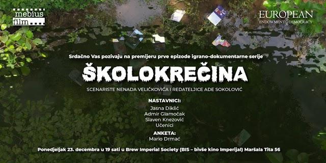 """PREMIJERA IGRANO-DOKUMENTARNE SERIJE """"ŠKOLOKREČINA"""" U BIS-U"""