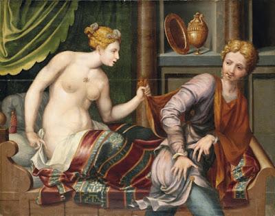 Школа Фонтенбло, 1556 - Иосиф и жена